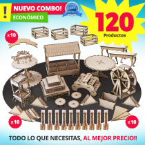 ENVIO FLASH | Combo Candy bar 120 Productos