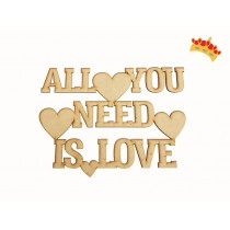 "FRASE ""ALL YOU NEED IS LOVE"""